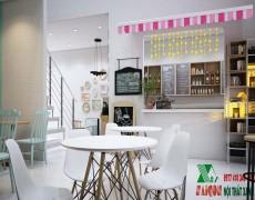 Dự Án Thiết kế Thi Công Quán Trà Sữa OHay Tại Tiền Giang