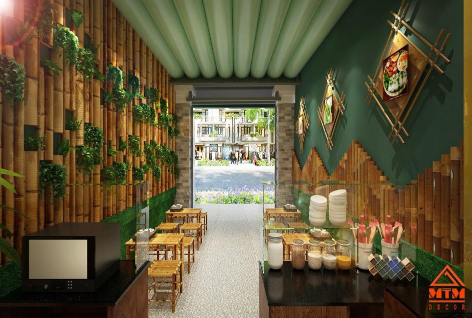 Dự Án Thiết kế Thi Công nhà hàng bằng tre đơn giản và tinh tế